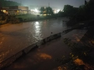 Little Sugar Creek flooding greenway and parts of wastewater treatment plant property